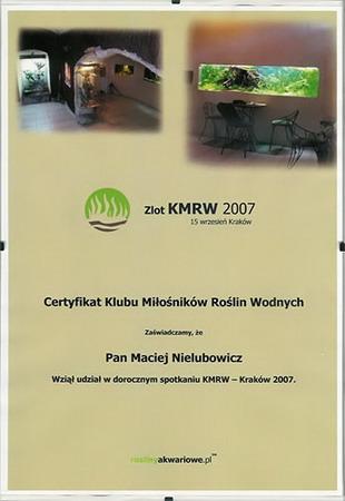 Każdy uczestnik otrzymał pamiątkowy Certyfikat KMRW